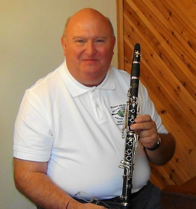 Leslie with his Libertas clarinet
